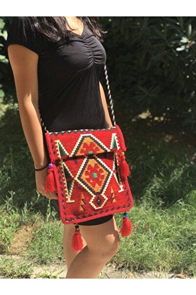 99 Kadın Kırmızı Heybe Çanta Chy-01