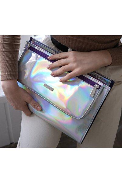 OZPACK Busıness Mor Hologram Orta Laptop Çantası