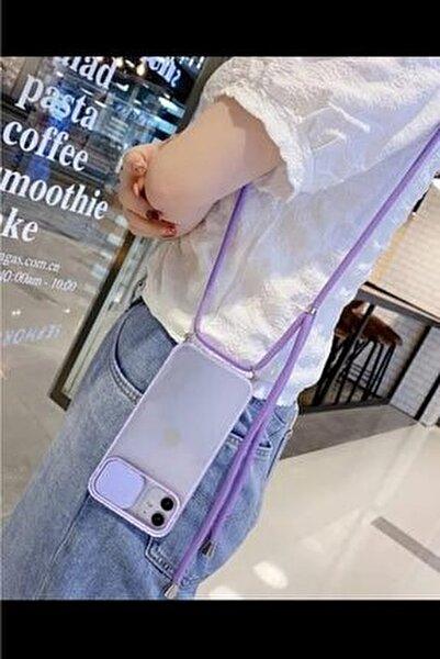 Iphone 11 Kamera Korumalı Ipli Boyun Askılı Telefon Kılıfı