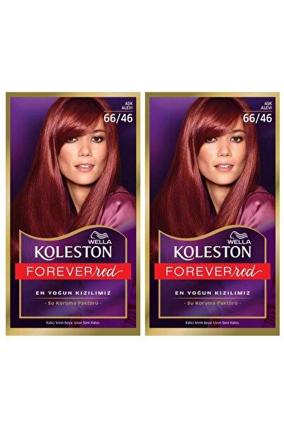Wella Koleston Kit 66/46 Aşk Alevi Saç Boyası 2'li 2wkk66-46