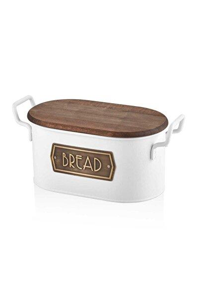 The Mia Beyaz Ekmek Saklama Kabı