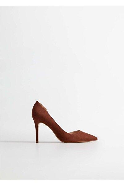 MANGO Woman Kadın Uçuk Pembe Asimetrik Stiletto Ayakkabı 63173047