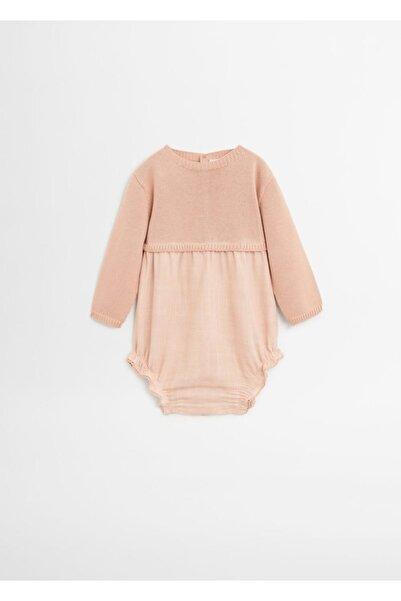 MANGO Baby Kız Bebek Pembe Kontrast Body