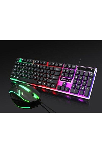 Deiog Marka Kablolu Led Işıklı Oyuncu Klavye & Mouse Seti