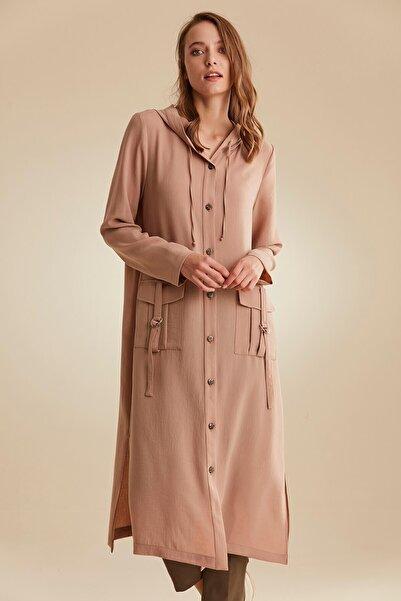 Nihan Kadın Bej Giy çık Pardesü - C4174