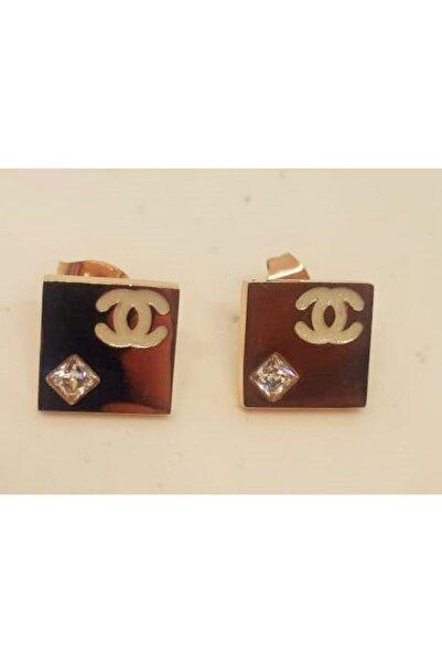 OTTOMAN SİLVER Chanel Model Çelik Küpe