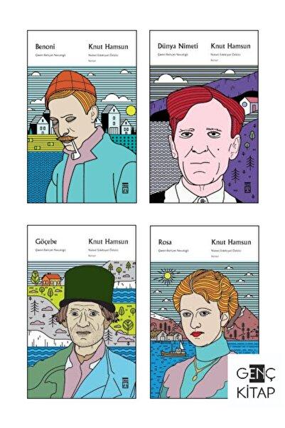 Timaş Yayınları Knut Hamsun 4 Kitap Set Behçet Necatigil Çevirisiyle Timaş Benoni-dünya Nimeti-göçebe-rosa