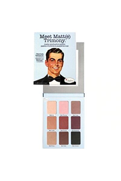 the balm Meet Matte Eyeshadow Palette Far Paleti Trimony