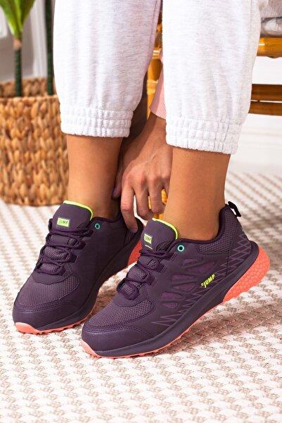 Jump Kadın Mor Neon Sarı Bağcıklı Spor Ayakkabı A212kjmp0008