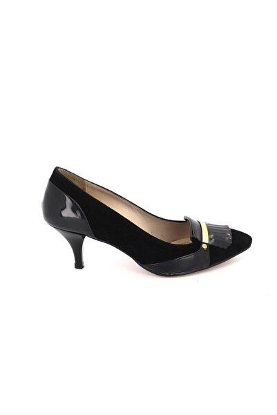 Hobby Kadın Siyah Süet Stiletto Kadın Ayakkabı 362