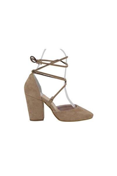 Hobby Kadın Vizon Süet Stiletto Kadın Ayakkabı 568
