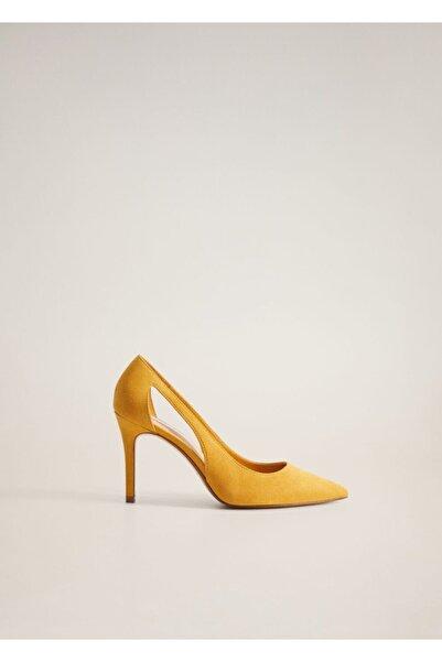 MANGO Woman Kadın Hardal Rengi Ayakkabı 77050556
