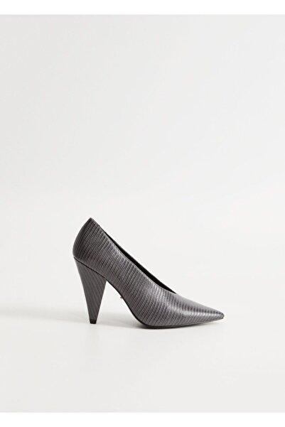 Violeta by MANGO Kadın Gri Ayakkabı 77024008