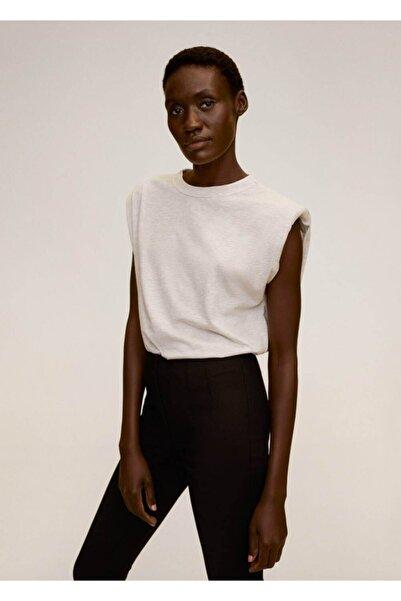 MANGO Woman Kadın Siyah Beli Elastik Pantolon 77072507
