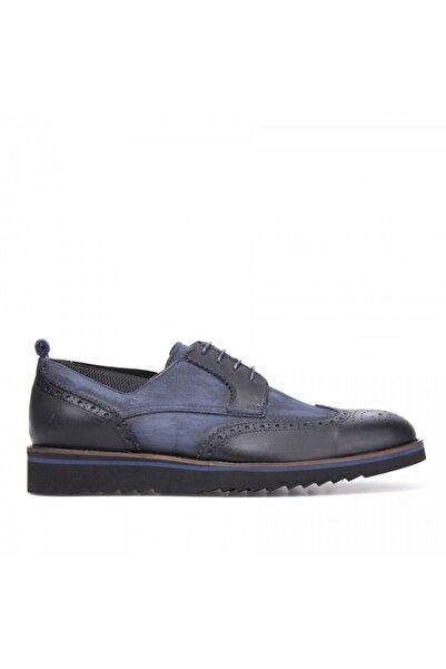 MARCOMEN Erkek Lacivert Deri Casual Ayakkabı