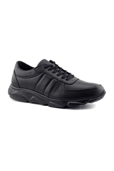 Kayra Erkek Siyah Hakiki Deri Ayakkabı