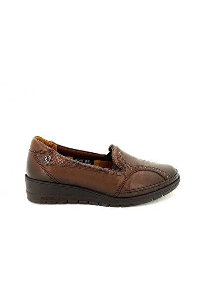Forelli Kahve Deri Ortopedik Kadın Ayakkabı 25109