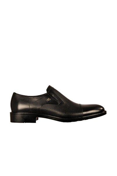 Fosco Erkek Siyah Hakiki Deri Günlük Klasik Ayakkabı