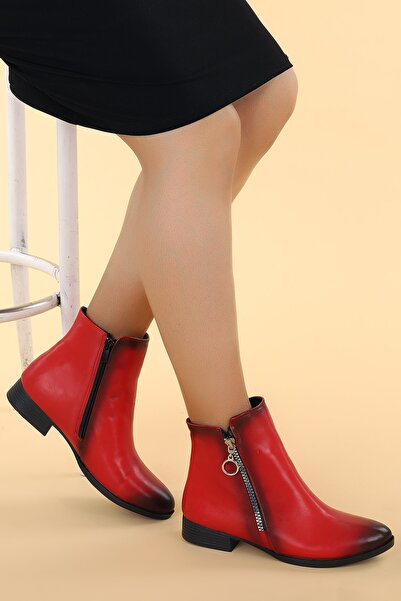 Ayakland Kadın Cilt Fermuarlı Bot Ayakkabı 8284 2123