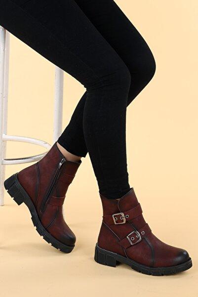 Ayakland Kadın Ymr 924 Cilt Termo Taban Fermuarlı Bot Ayakkabı