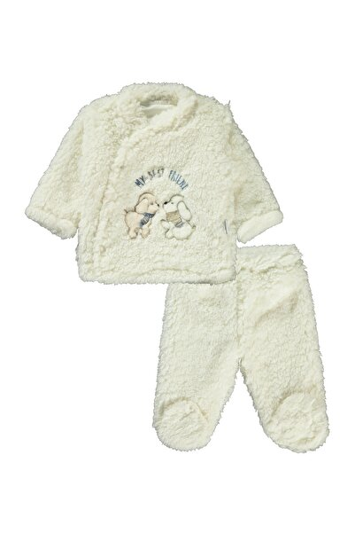 Albimini Erkek Bebek Takım 3-9 Ay Ekru