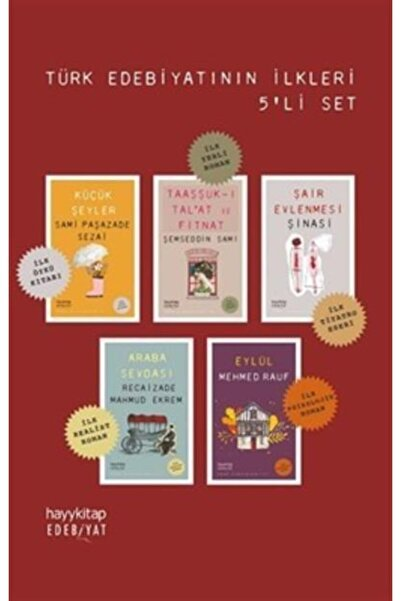 Hayykitap Türk Edebiyatının Ilkleri 5 Kitap Set