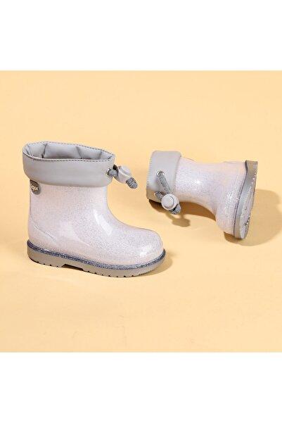 IGOR Gümüş Bimbi Glitter Kız Çocuk Su Geçirmez Yağmur Kar Çizmesi Igor W10247