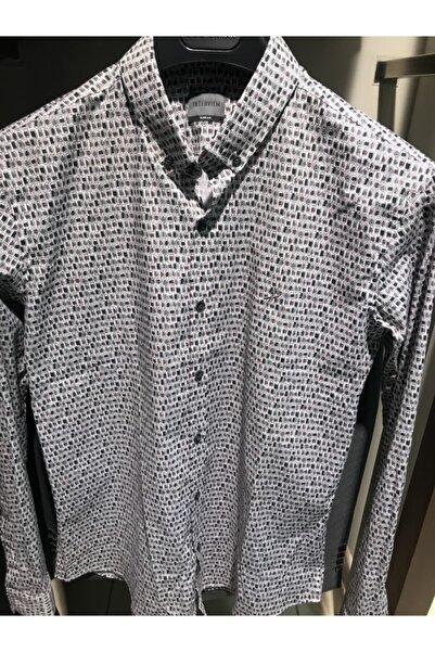Sarar Erkek Beyaz Lacivert Gömlek