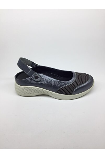 fluffy Kadın Gri Sandalet Ayakkabı