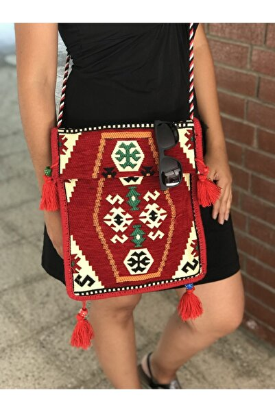 99 Chy-05 Kadın Kırmızı Modern Heybe Çanta