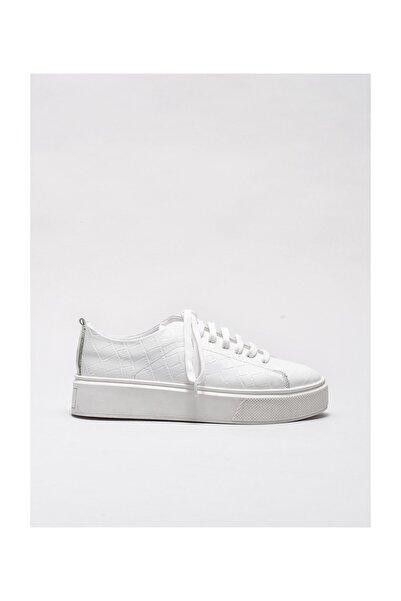 Elle Shoes Beyaz Deri Kadın Spor Ayakkabı