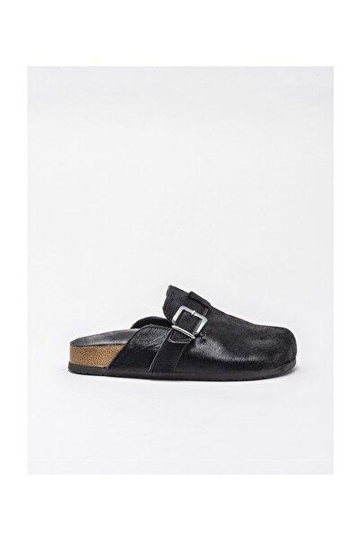 Elle Shoes Kadın Siyah Deri Terlik