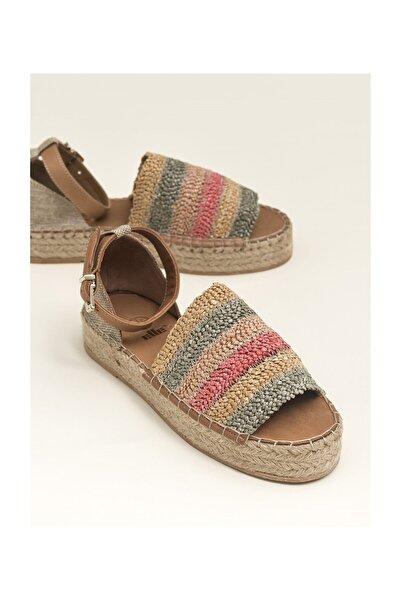 Elle Shoes Sayers Pembe Multi Kadın  Sandalet 20YGFE13