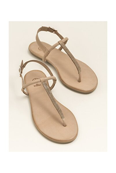 Elle Shoes ROSALINA Hakiki Deri Naturel Kadın Sandalet 20YLT443029