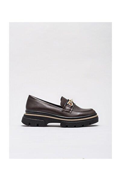 Elle Shoes Kadın Delevan Kahve Casual Ayakkabı 20KAY13