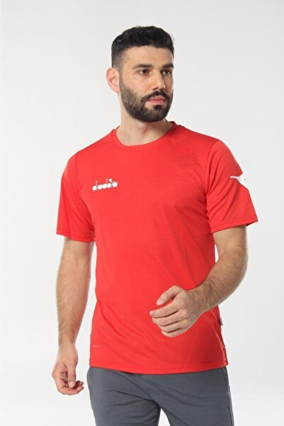 Diadora Erkek Kırmızı Nacce Antrenman T-shirt