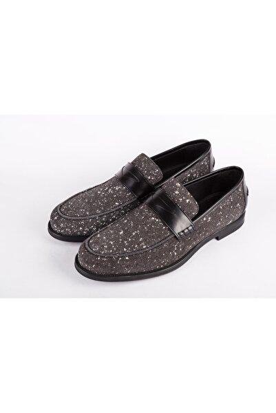Jimmy Choo Erkek Gri Loafer Ayakkabı