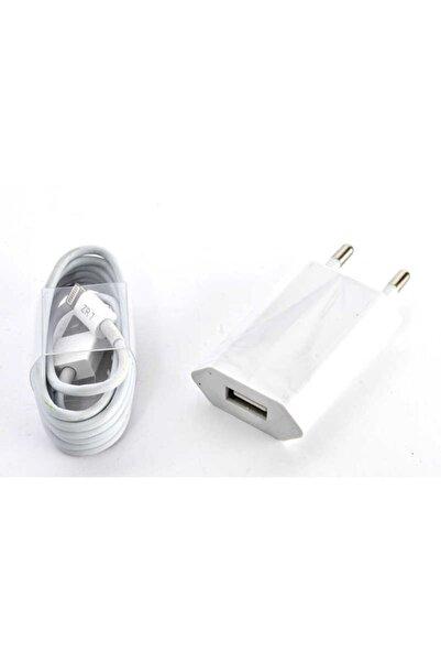 zore Ip5 800 Mah + Ip5 Usb Kablo Lightning Beyaz Charger Set