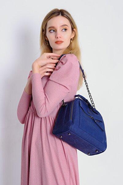 Just Polo Kadın Mavi El/omuz Çantası