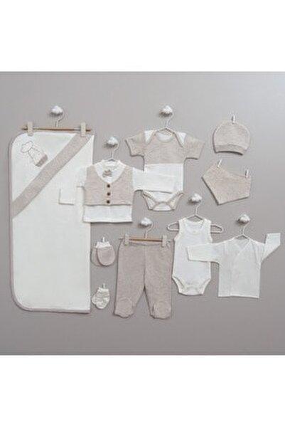 Erkek Bebek Bej Filli 10'lu Yeni Doğan Hastane Çıkış Seti