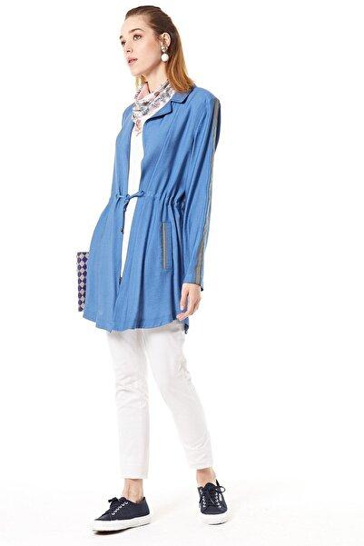 Nihan Kadın Lacivert Ceket  Indigo B5072