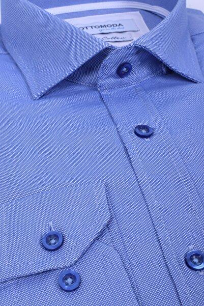 Ottomoda Uzun Kollu Düz Renk Premium Oxford Gömlek