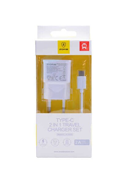 zore Z-03 Gold Type-c Beyaz Charger Set