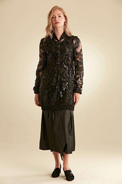Nihan Kadın  Siyah  Ceket- B5247