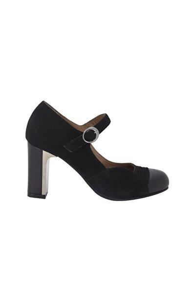 Hobby Kadın Siyah Deri Topuklu Ayakkabı 278