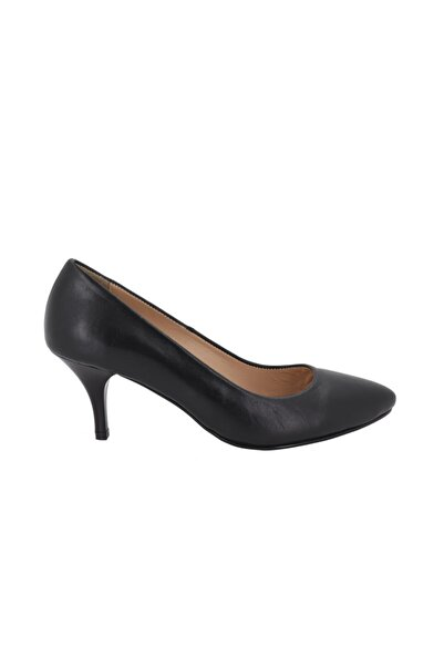 Hobby Kadın Siyah Deri Stiletto Ayakkabı 328d