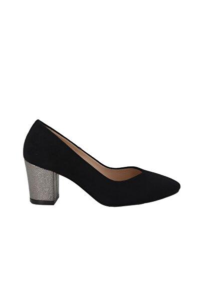Hobby Kadın Siyah Süet Stiletto Ayakkabı 569