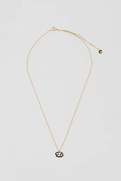 Pull & Bear Kadın Altın Rengi Metal Yengeç Burcu Kolye 04991318