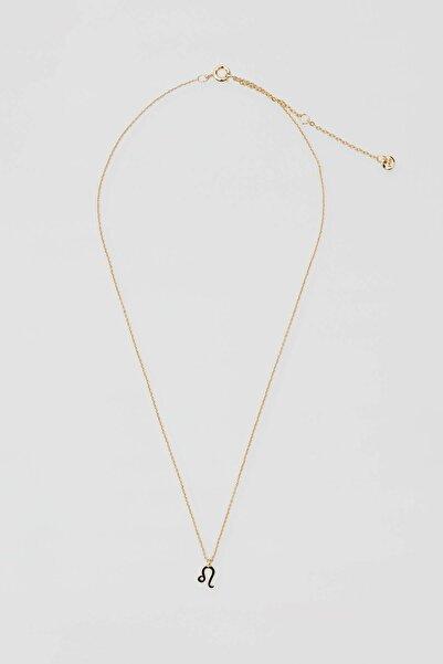 Pull & Bear Kadın Altın Rengi Metal Aslan Burcu Kolye 04991319