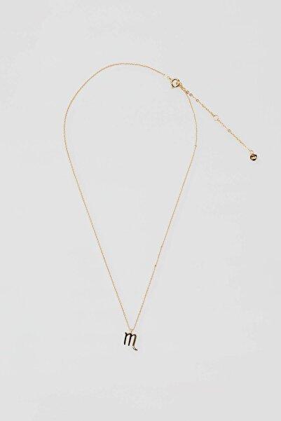 Pull & Bear Kadın Altın Rengi Metal Akrep Burcu Kolye 04991322